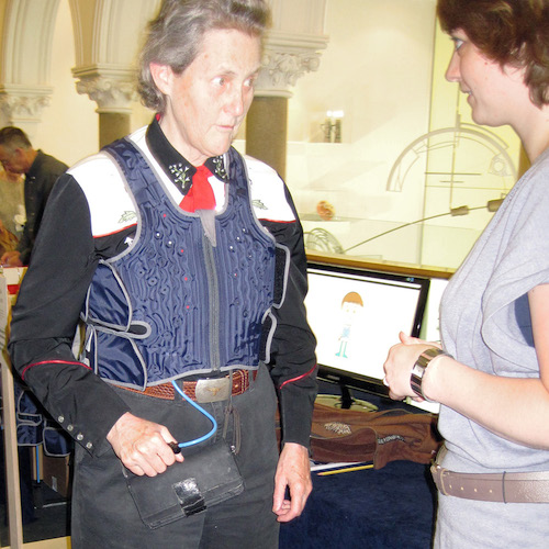 Dr Temple Grandin tested a Squease Pressure Vest